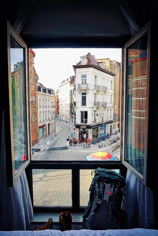 An office with a view. Brussels, Belgium