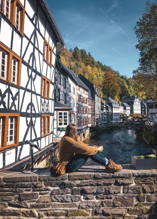 Seeing as much of Europe as possible, for a little money as possible. Monschau, Germany