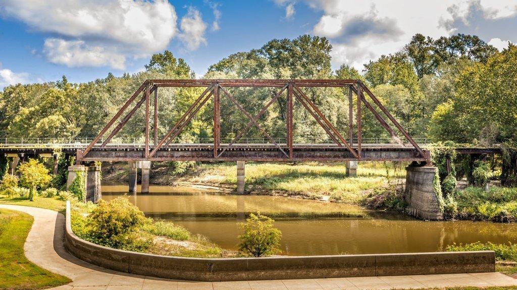 Historic Jefferson railway bridge in Jefferson, Texas