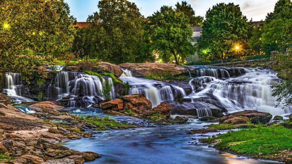 Reedy River Falls in Downtown Greenville South Carolina