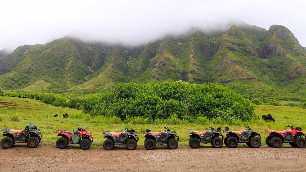 ATV driving at Kualoa Ranch