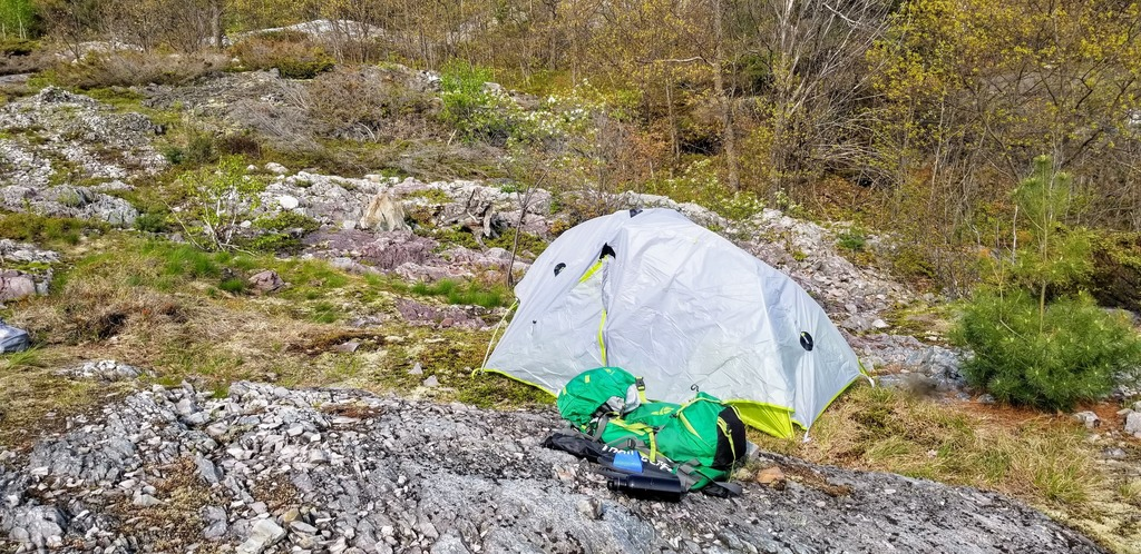 Backcountry camping in Canada