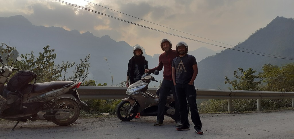 My motorcycle crew in Vietnam