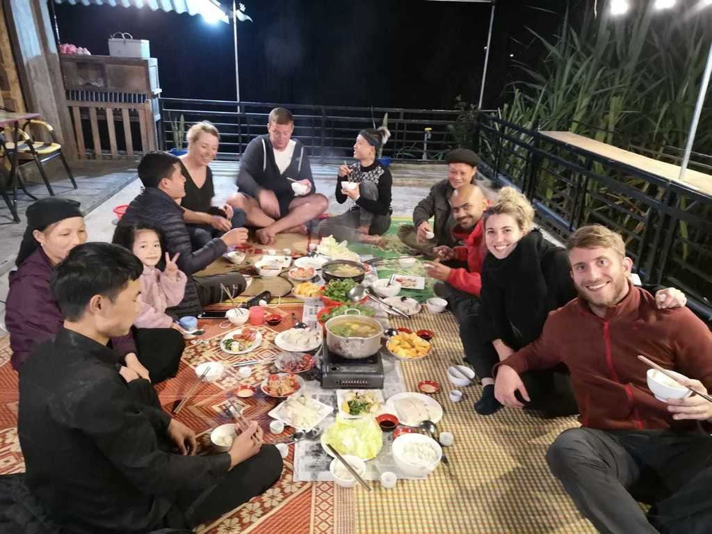 Homestay with locals near Ha Giang, Vietnam. Hotpot and amazing company.