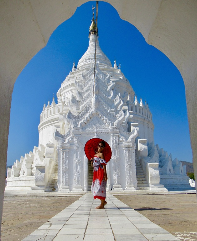 White Pagoda in Mandalay, Myanmar
