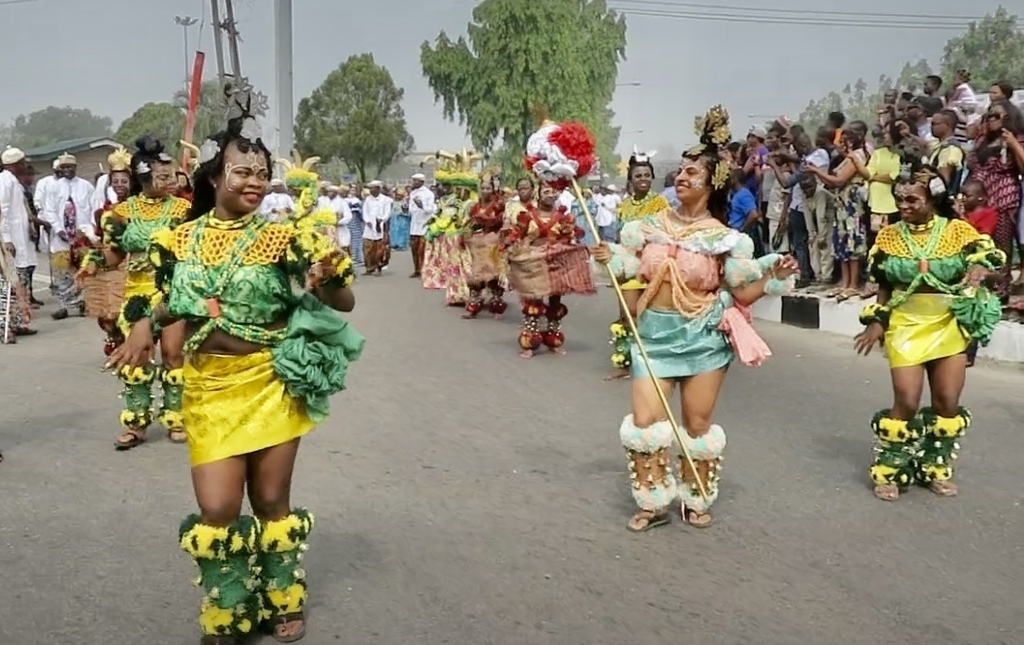Dancing at the carnival in Nigeria
