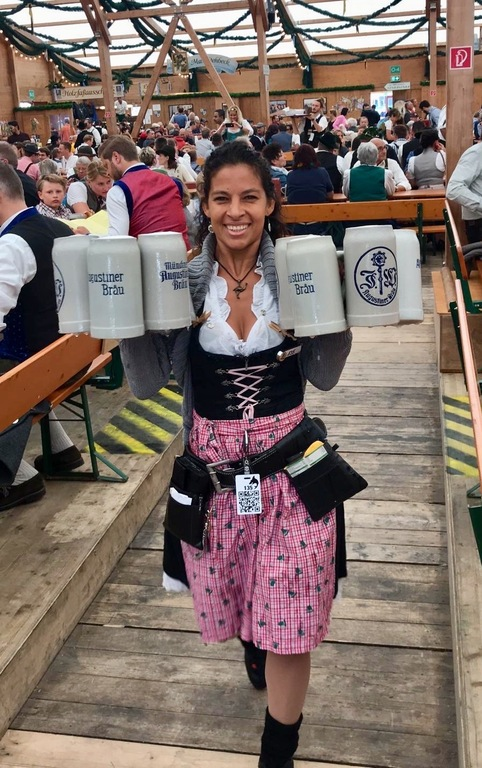 working at Oktoberfest