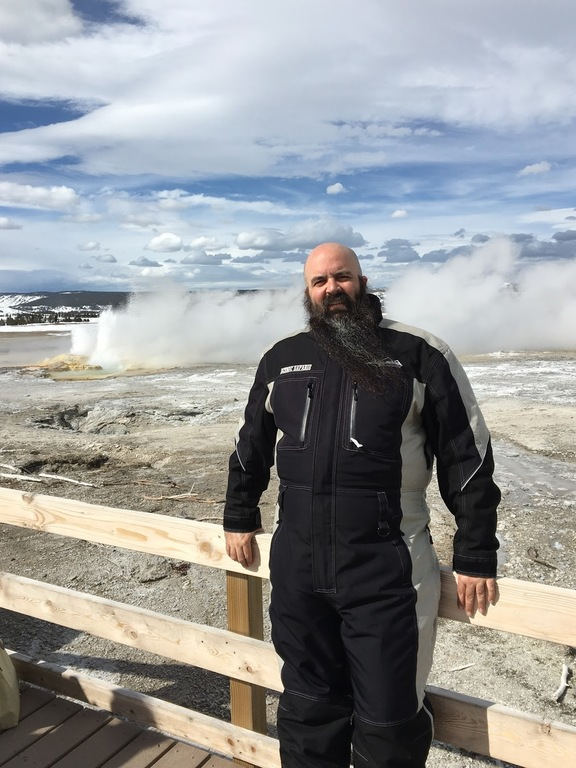 (Kevin at Yellowstone National Park)