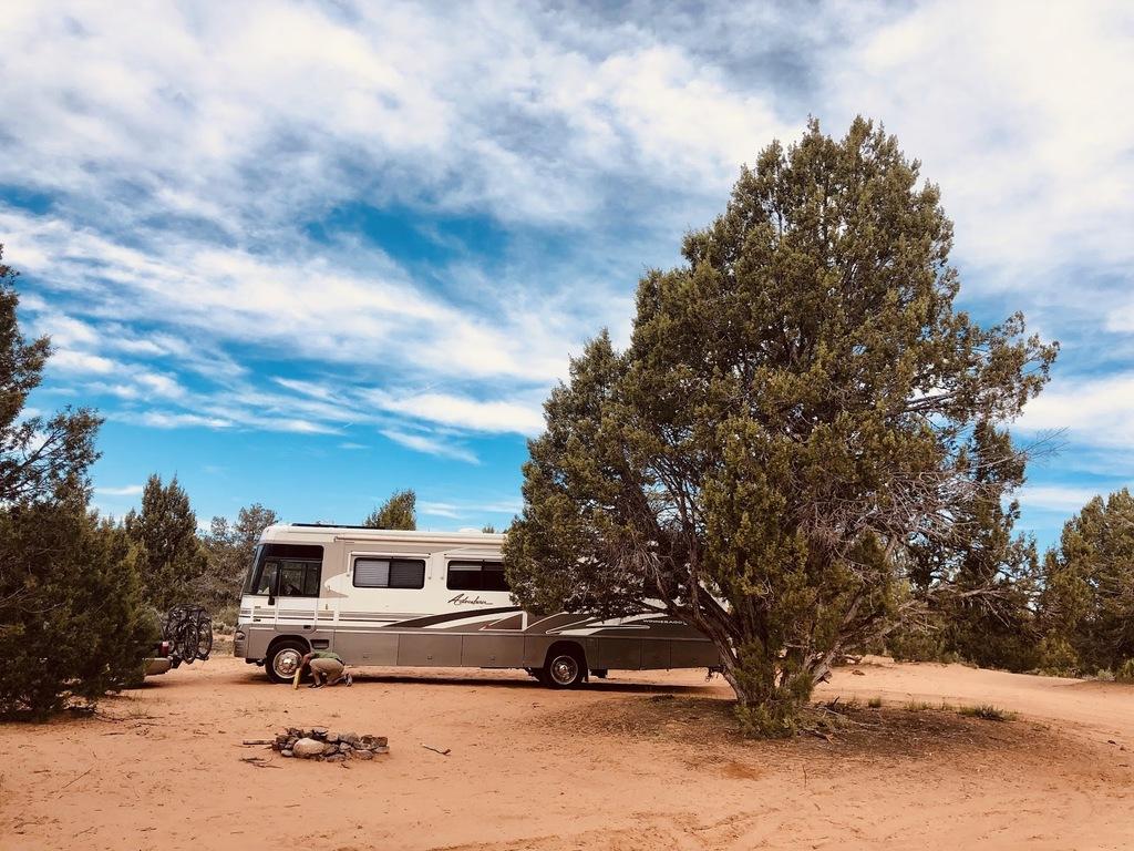 boondocking on public lands in Kanab, UT